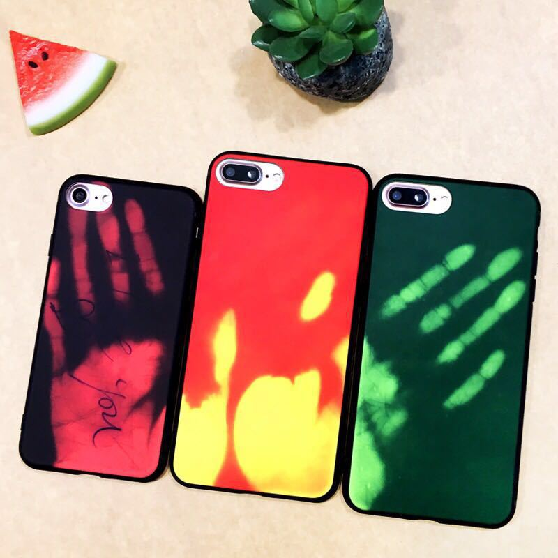 Thermosensitive Color Change Magical PU Case For iPhone 11 Pro Max XS XR X 8 7 6 6S Plus Sensing Thermal Sensor Heat Cover(China)
