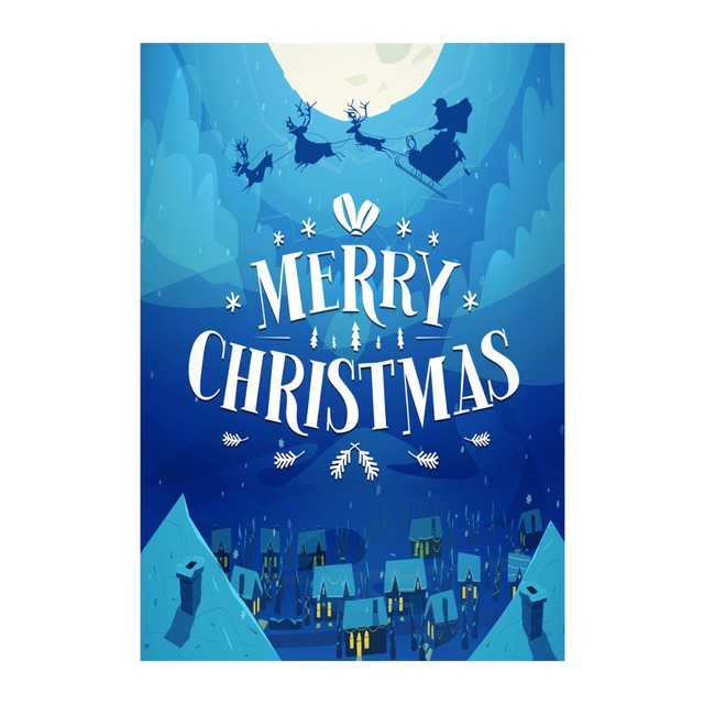 merry christmas night decorative outdoor and indoor flags 100