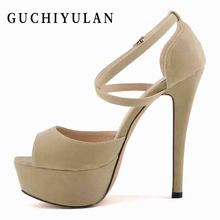 1a303df9ee5a super high heels high Sexy nightclub thick waterproof platform Summer sexy  fish mouth Pumps 14cm women s