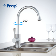 Frap Classic Kitchen mixer Space aluminum  Anodizing Swivel Basin Faucet 360 degree rotation F4152
