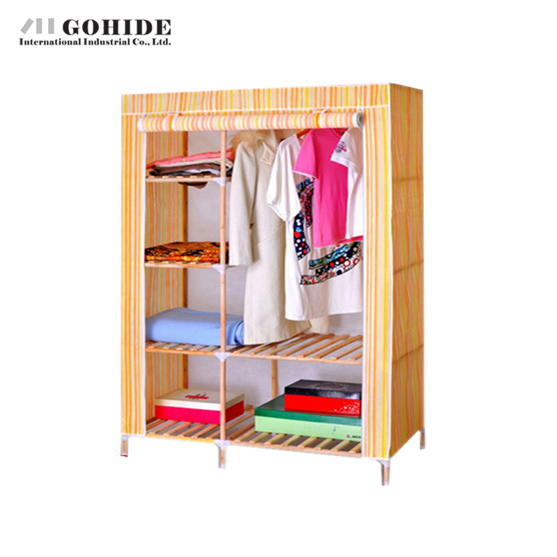 Gohide Large Simple Wardrobe Solid Wood Wardrobe Double Wardrobe Wood Home  Furnishing Decoration Wardrobes Closet In Wardrobes From Furniture On ...