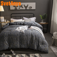 Svetanya Gray 3d Quilt Cotton thick Throws Blanket Print Plaids warm Bedding Filler Queen Full King size