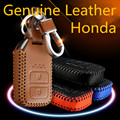 High Quality Car Genuine Leather Key Case cover KeyChain for Honda CRV FIT XRV CRIDER VEZEL JADE SPIRIOR 9 Accord