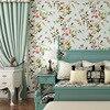 Beibehang American Village Retro Pastoral Wind Nonwovens Wallpapers Living Room Upscale Hotel Big Birds Wallpaper