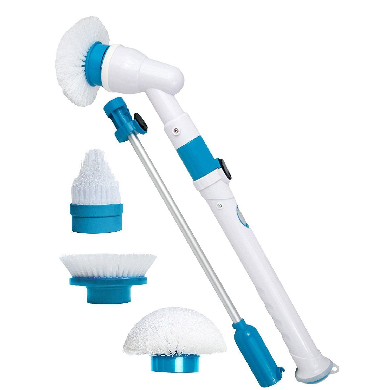 Горячая Распродажа спин скруббер мощный электрический щетка для очистки с расширением ручки Ванна и плитка скруббер для Ванная комната пол...