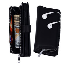 For women/men Wallet Leather Case For Samsung Galaxy S7 S7 Edge S5 S6 Zipper Purse Pouch Case Lady Handbag Multifunction
