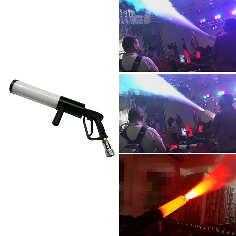 Dj Led Gun Co2 Pistola Jet Machine Stage Effect Handhold Disco Equipment Light RGB Club Bar Wedding