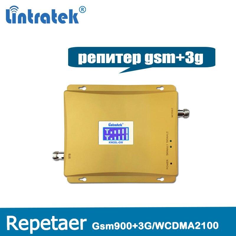 Lintratek nouveau répéteur 3G GSM répéteur de Signal 900 MHz UMTS 2100 MHz 2G 3G double bande amplificateur de Signal de téléphone portable amplificateur de téléphone portable @ 5