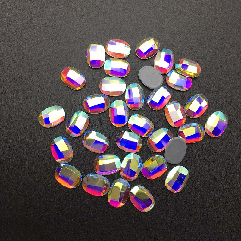 High Quality DIY Clothing Hot Drilling Loose Diamond Crystal Colorful Oval Flat Rhinestone 3D Fashion Nail Art Decoration in Rhinestones from Home Garden
