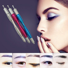 10 Pcs Manual Eyebrow Permanent Makeup Pen Tattoo Machine Microblading Munsu Tebori Pen By