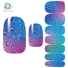 Rocooart K5640 Nail Art Stickers Mysterious Blue Ocean Drops Water Transfer Nail Sticker 3d Manicure Minx