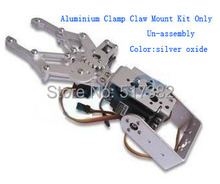1 Set 2 DOF Aluminum Robot Arm Clamp Claw Mount Kit No servo Un assembly Fit