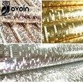 Мини-мозаика Роскошный блеск обои фоне стены блестящий золотой фольги обои серебро потолочные обои обои WP038