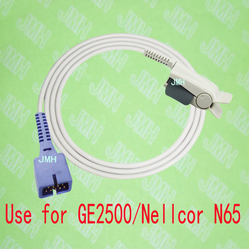 Compatible with GE 2500 and Nellcor N65 Pulse Oximeter monitor, Adult finger clip spo2 sensor,9PIN.Nellcor clip. compatible with ge critikon dinamap puls 8700 8710 8720 oxyshuttele 1 2 child and adult ear clip spo2 sensor