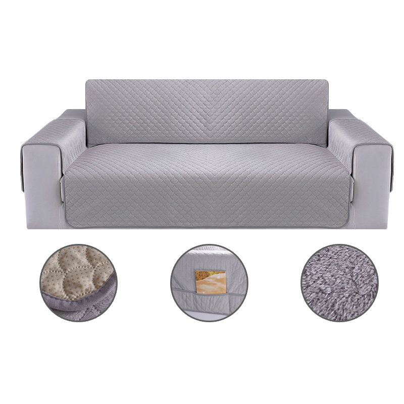 Plush Fabric Thick Sofa Cover Washable Removable Couch
