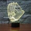 Meias GlovesLED Quarto Candeeiro de mesa de Natal Anjo Branco 7 Cores Night Light Presente de Aniversário Dia Dos Namorados Noite light-3D-TD205