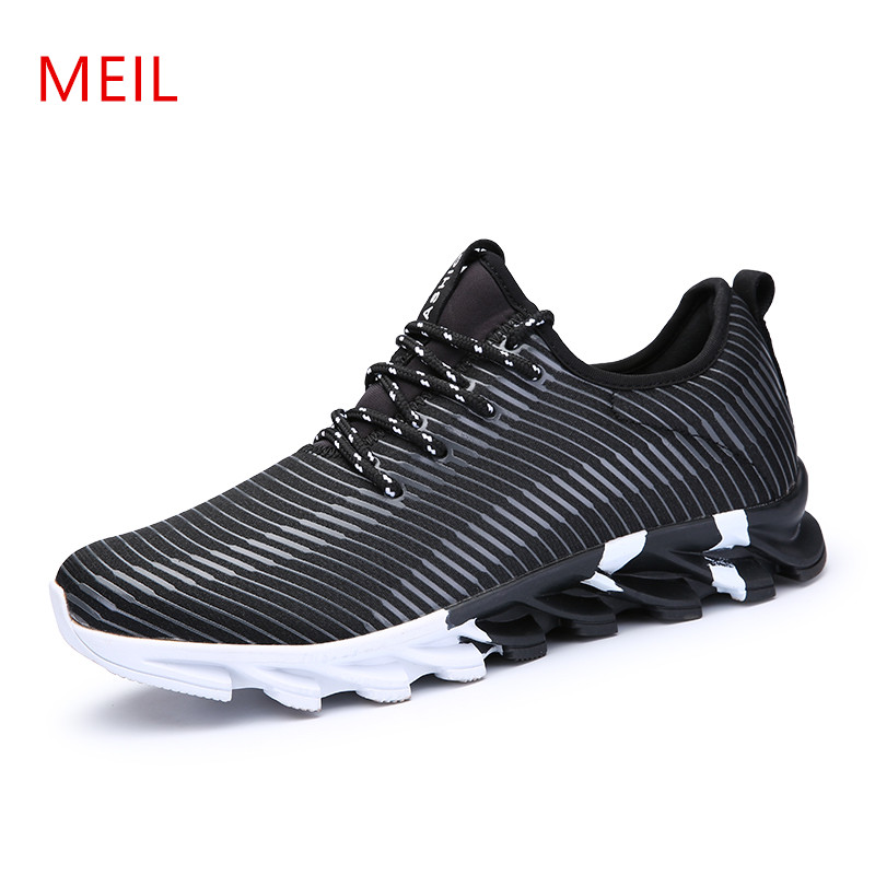 MEIL Spring Autumn Men Sneaker Tenis Masculino Adulto Casual Shoes Breathable Fashion Lace Up Flats Chaussure Homme Shoes Men 2017new men casual shoes elastic breathable massage flats shoes spring summer men s flats men sapatos chaussure homme masculinos
