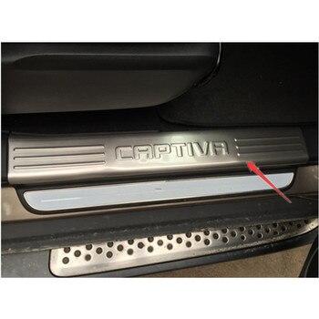 Ücretsiz kargo Chevrolet Captiva 2012-2017 için paslanmaz çelik sürtme plakası İç kapı eşiği 4 adet/takım