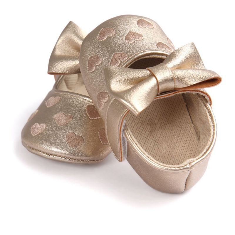 PU Leather Newborn Baby Girl Moccasins Shoes Butterfly-knot Heart Printed Fringe Soft Soled Non-slip Footwear Crib Shoes suede leather baby boy girl baby moccasins soft moccs shoes bebe fringe soft soled non slip footwear crib shoes new