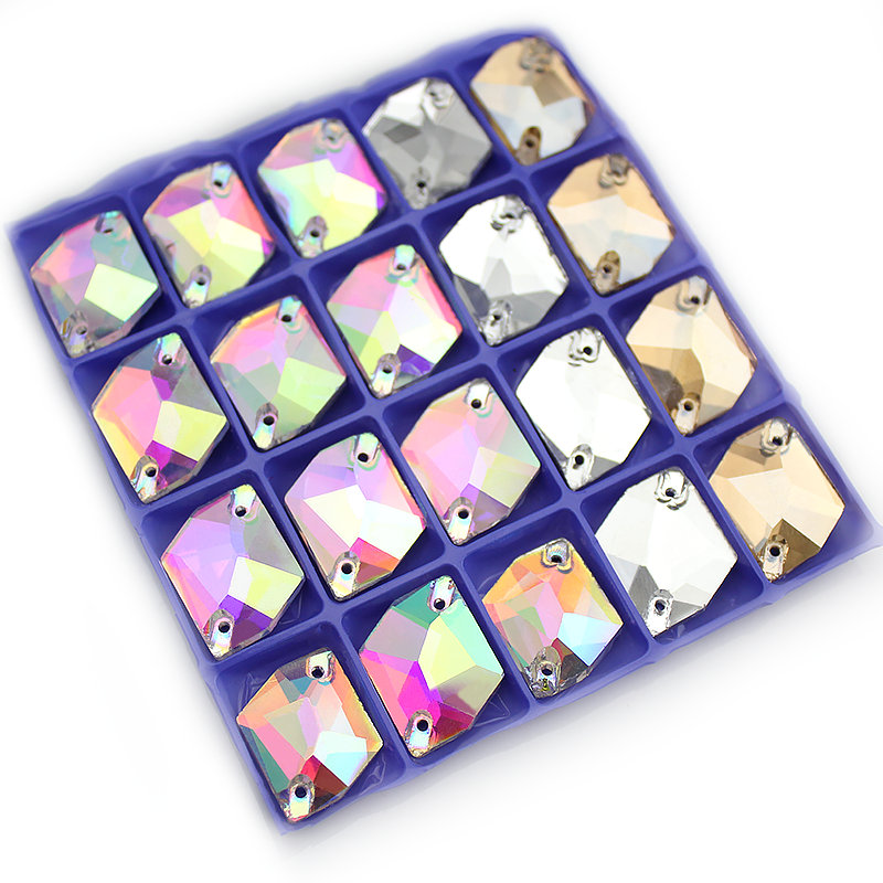 11x14mm 13 * 17mm 16 * 21mm Crystal AB Sy på rhinestones Pear Shape Glass Sew-On Stones Flatback Droplet Systrå
