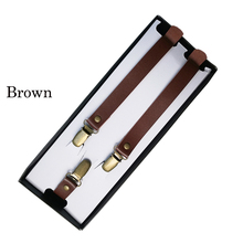 Women's Unisex Retro strap leather suspenders clip braces Adjustable Pants women tirantes jartiyer bretels bretelle pantalon