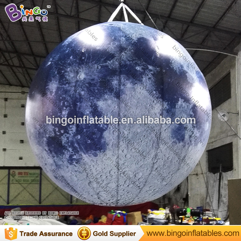 Custom Size Inflatable Lighting Moon / 2.5m Giant Moon Balloon Light / Inflatable Sphere Planets Shape Balloons for Decoration ao058h 2m helium balloon ball pvc helium balioon inflatable sphere sky balloon for sale