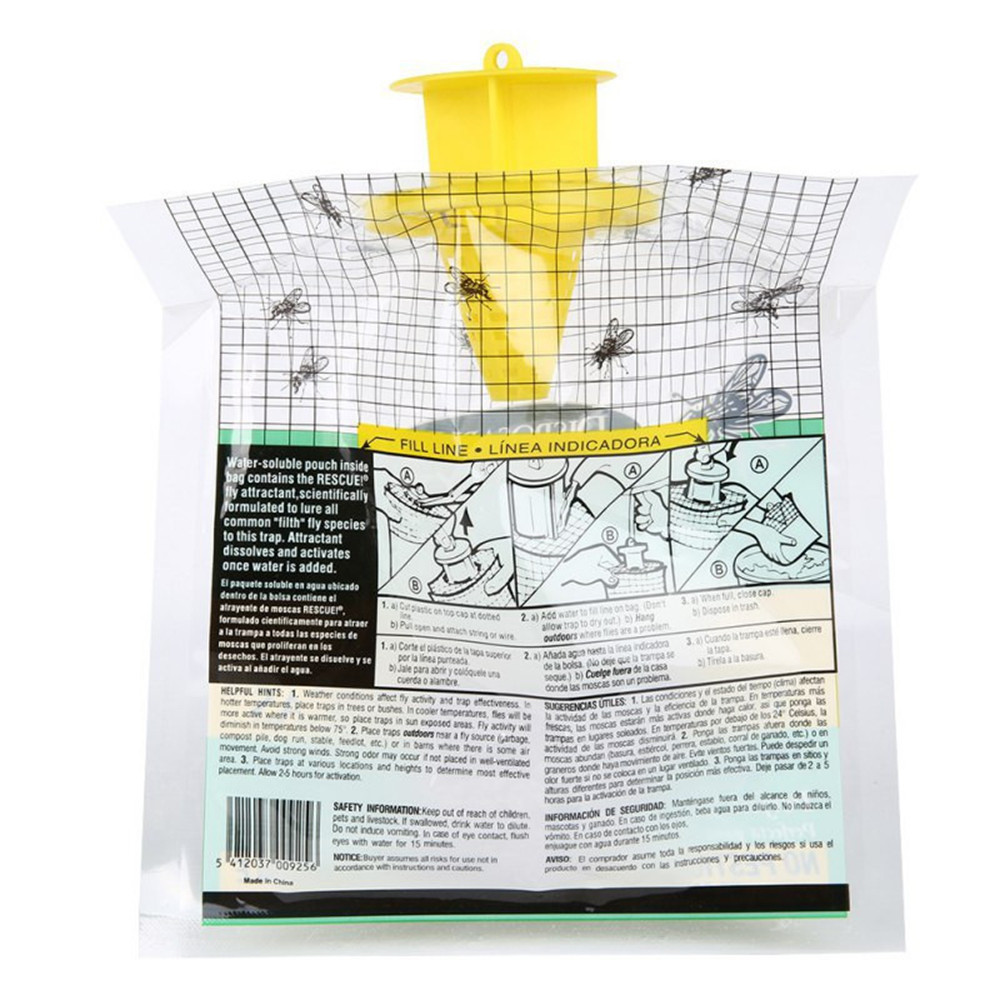 Image 3 - Disposable Catcher 2019  5PCS Disposable Fly Trap Catcher Fly Catcher Insect Trap Hanging Style Pest Control-in Traps from Home & Garden
