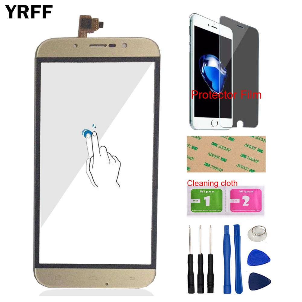 YRFF 5.5 Inch Mobile Phone Touch Screen Panel Touchscreen For UMI Rome X Digitizer Panel Glass Protector Film Free Adhesive