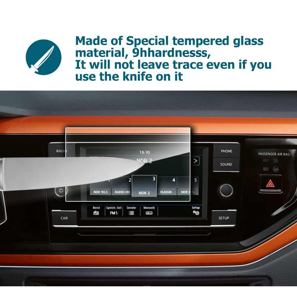 RUIYA ekran koruyucu film Volkswagen vw polo/VW Polo 6 Kompozisyon Renk 6.5 inç, 9H sertleştirilmiş temperli cam koruyucu
