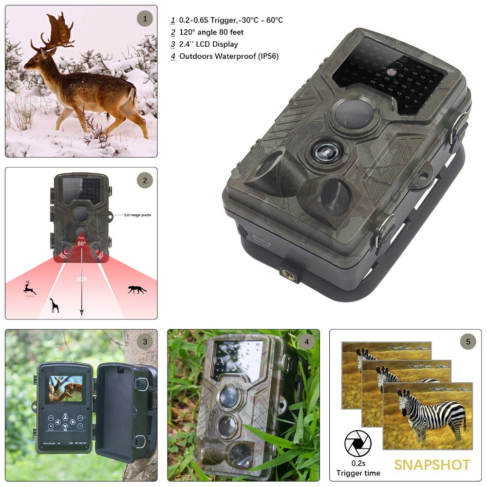 12MP Infrared Hunting Trail Camera Chasse 940NM Night Vision Hunting camera 1080P Scouting Game Camera 2.0' LCD Hunter Cam digital 940nm hunting camera invisible infrared 12mp scouting trail camera 2 4 lcd hunter cam s660
