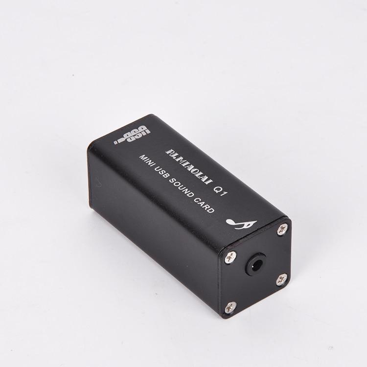 Q1 HiFi Mini Computer Externe Soundkarte PCM2704 Digital PC USB DAC