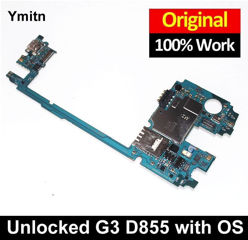 Nouveau Ymitn Débloqué G3 D855 Mobile Électronique Panneau Carte Mère Carte Mère Circuits Câble MB Pour LG G3 D855 D850 F460 F400 VS985