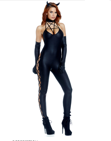 UTMEON 	New Hot Women Halloween Masquerade Cosplay Demon Costumes Sexy Black Rompers Carnival Costume For Woman