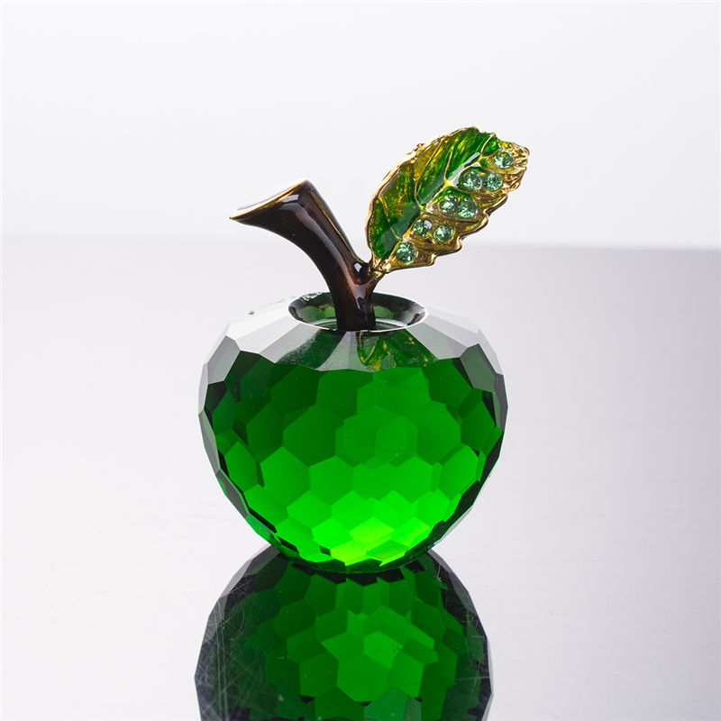 Residence Decor 40mm Inexperienced Crystal Apple Wedding ceremony Ornament Crystal Ball Collectible figurines Crafts Presents Birthday Half Decor Inexperienced Glass Ball ornamental ornamental, ornamental apples, ornamental crystals,Low cost ornamental...