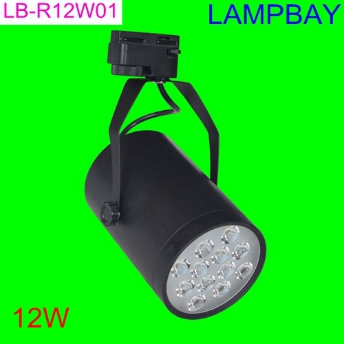 (30 Pack) Free Shipping LED Track light 12W replace to 120W halogen bulb commercial lighting rail lamp 85-265V