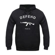 Die neue 2016 herbst und winter VERTEIDIGEN paris AK47 Mit Kapuze Sweatshirts Hoodies Männer Frauen Langarm Oberbekleidung Hip Hop Hoodie