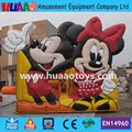 Free Shipping Micky Mouse Inflatable Bouncer Castle With Slide
