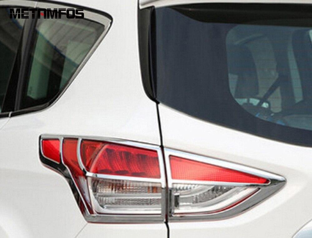 1-Для Ford Kuga Escape 2013 2014 2015 5dr хэтчбек хромированный чехол для Taillamp накладка задний свет лампы капот протектор внешние аксессуары смотреть на Алиэкспресс Иркутск в рублях