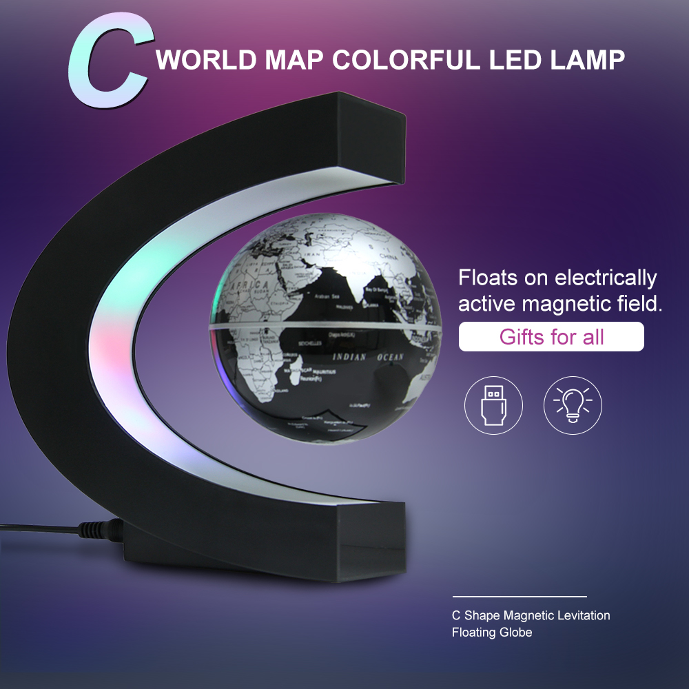 novidade led luz antigravidade levitacao magnetica mapa do mundo flutuante globo de luz magica lampada novel