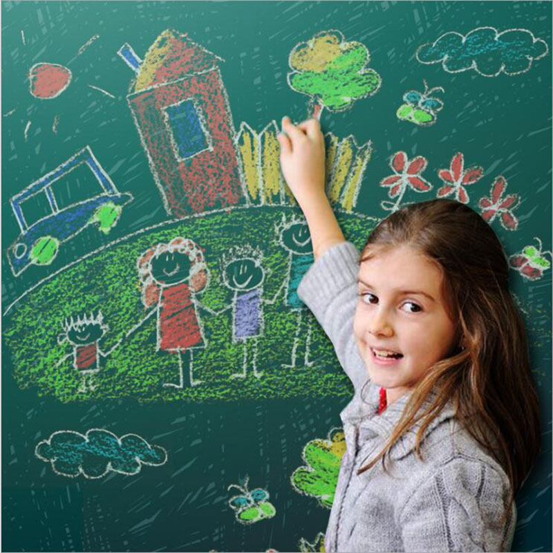 Big SaleåCreative Home Decoration Wall Stickers Green Board Children Teaching 45x100 Cm Green┴