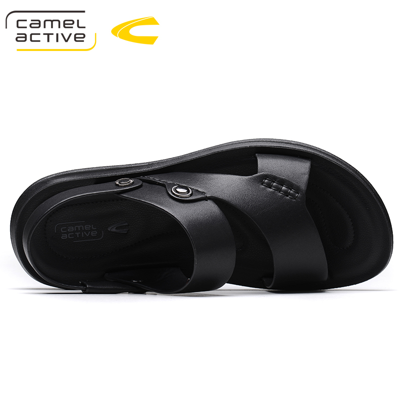 Camel Active Brand Summer Casual Male Sandals For Men Shoes Genuine Leather Quality Walking Beach Comfortable Designer Sandals 4