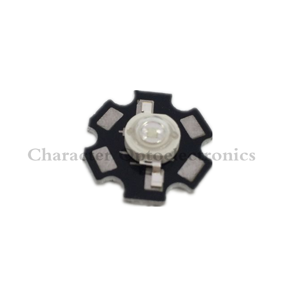 50pcs 3W 490nm - 495nm Cyan Color High Power LED Light Emitter Diode on 20mm Star PCB