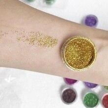 Макияж Пигмент Порошок пыль маникюр Дизайн ногтей Блеск хромированная пудра украшения для глаз волосы тело ногтей мерцание