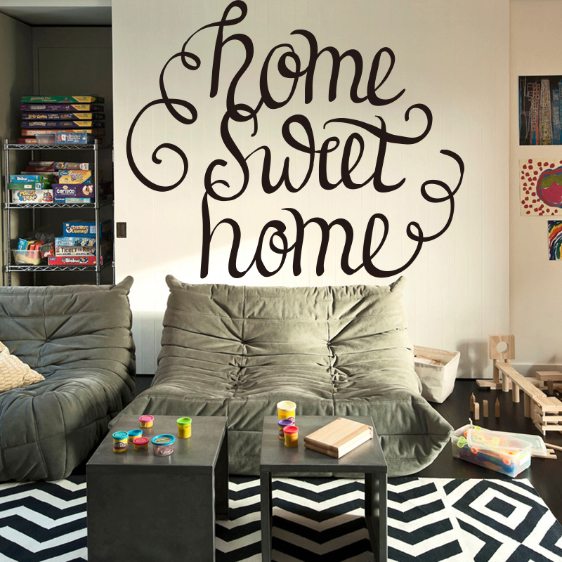 Home Sweet Home Quote Wall Sticker Home Diy Home Decor Living Room
