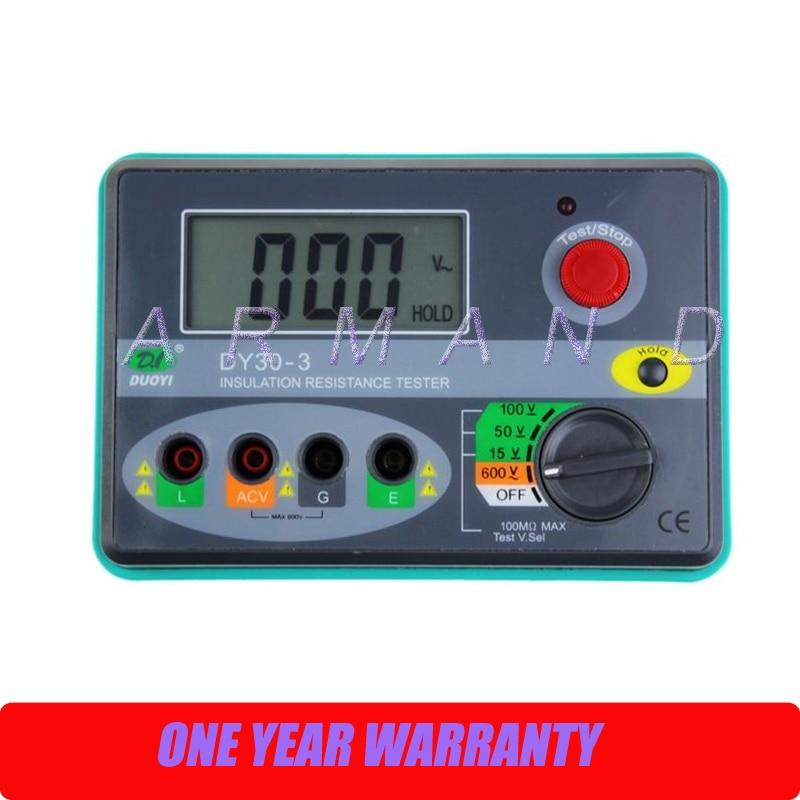 DY30-3 Digital Telecom Insulation Tester Megger Megohmmeter 15/50/100V 100M ohm