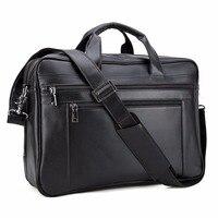 TIDING Top Quality Men S Genuine Leather 17 Laptop Bag Satchel Large Capacity Briefcase Messenger Office