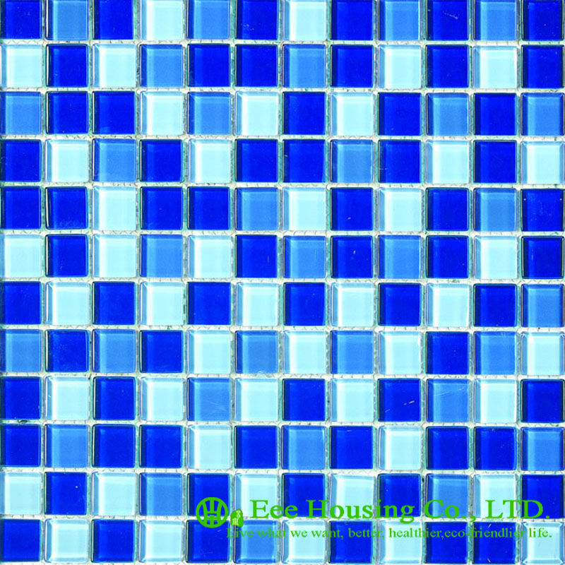 Glass Mosaic Tile For Home Decoration, Bathroom Glass Crystal Mosaic Tile