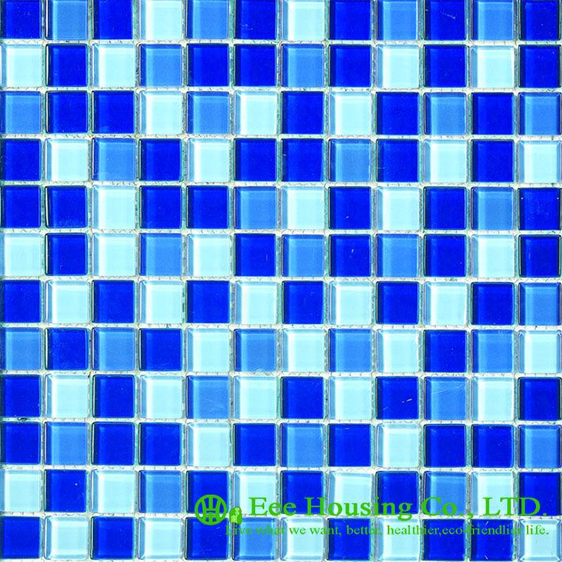 Glass Mosaic Tile For Home Decoration, Bathroom Glass Crystal Mosaic Tile