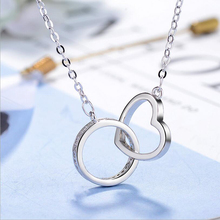 Heart Round Shape Pendant Necklaces For Women Love Heart Necklaces Crystal Rhinestone Choker Necklace With Love Letter Jewelry rhinestone heart shape romantic necklace for women