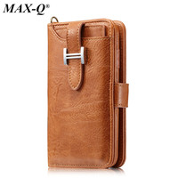 Retro Handmade Genuine Pu Leather Wallet Case For Iphone 7 Luxury Purse Pouch Book Cover For